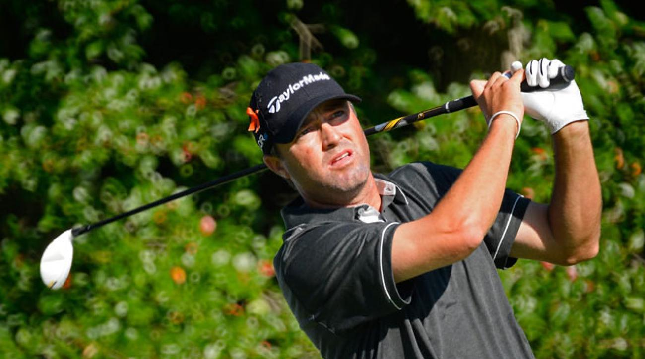 Ryan Palmer player nearly-flawless golf on the way to a first-round 63 and two-shot lead at the Deutsche Bank Championship.