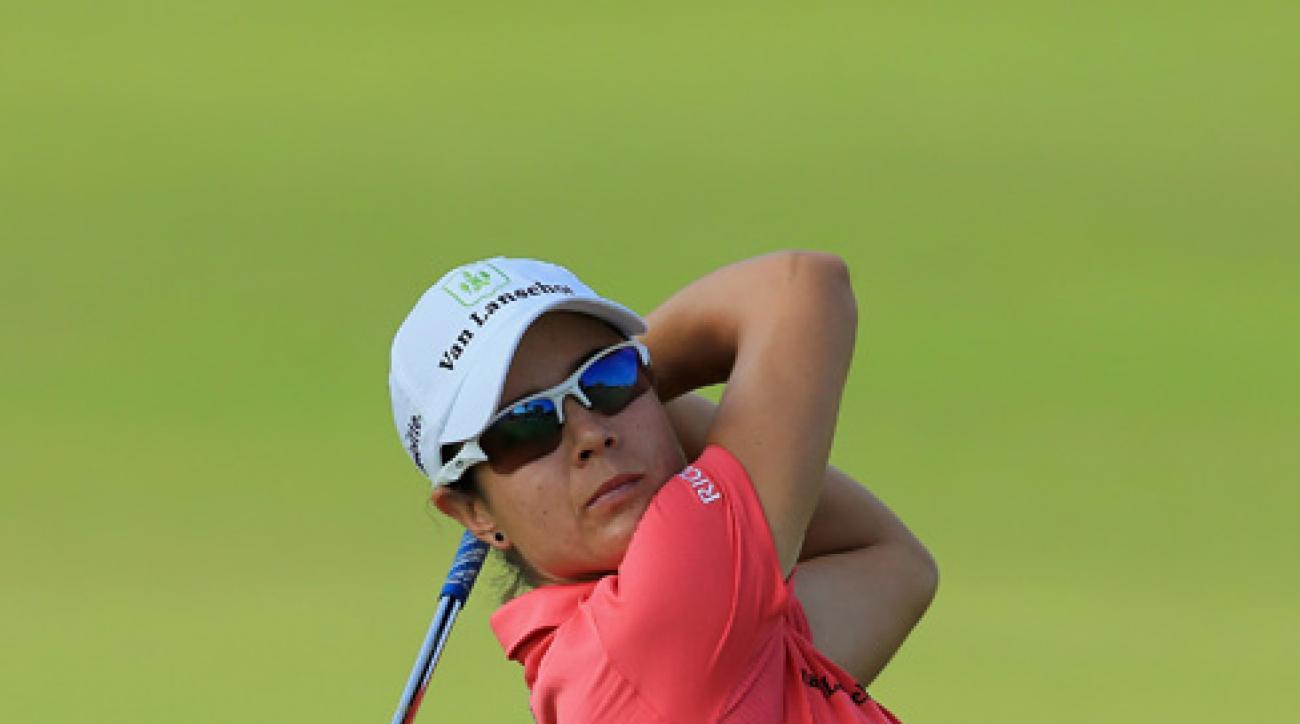 Dewi Claire Schreefel aced the 157-yard 12th hole at Lake Merced Golf Club on Sunday.