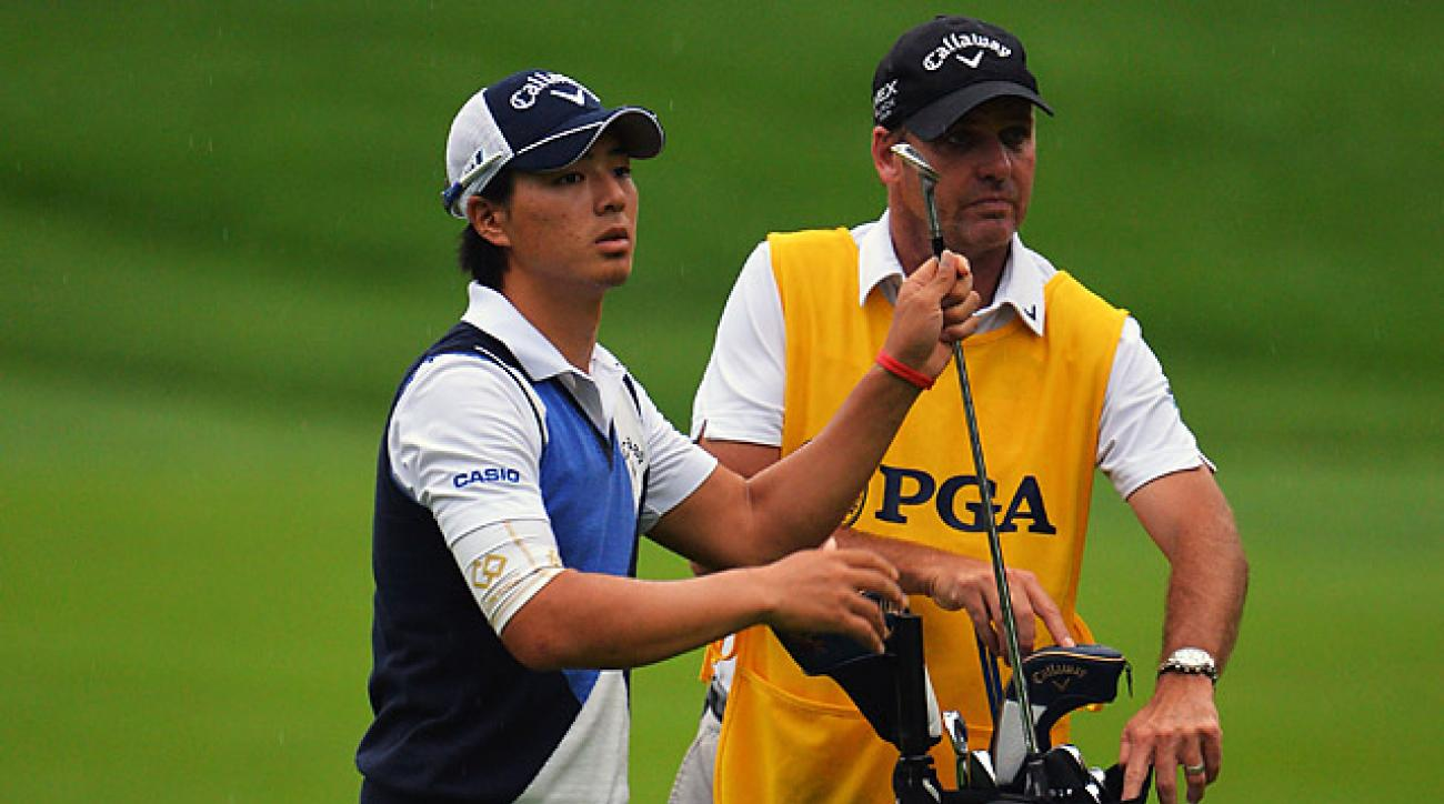 Simon Clark has caddied for 22-year-old Ryo Ishikawa since 2012.