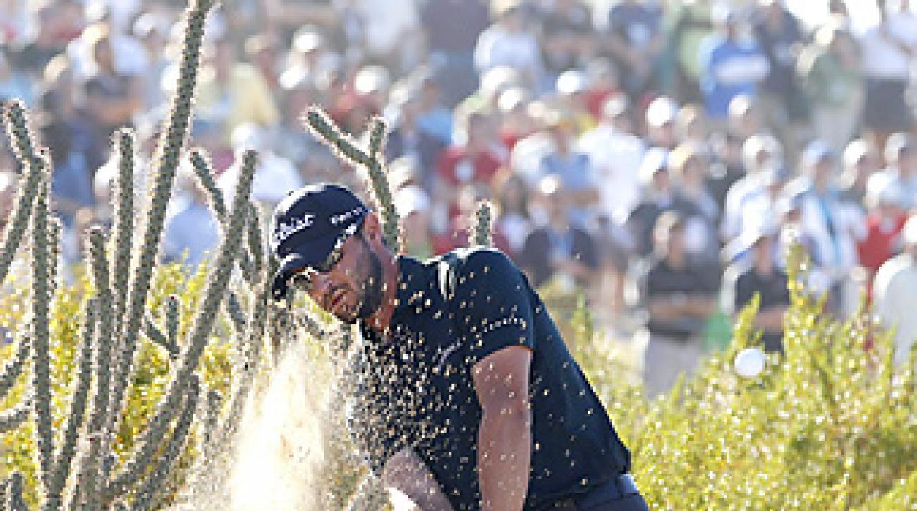 Kyle Stanley made this escape from a cactus on the 17th hole to help propel him to his first PGA Tour win.