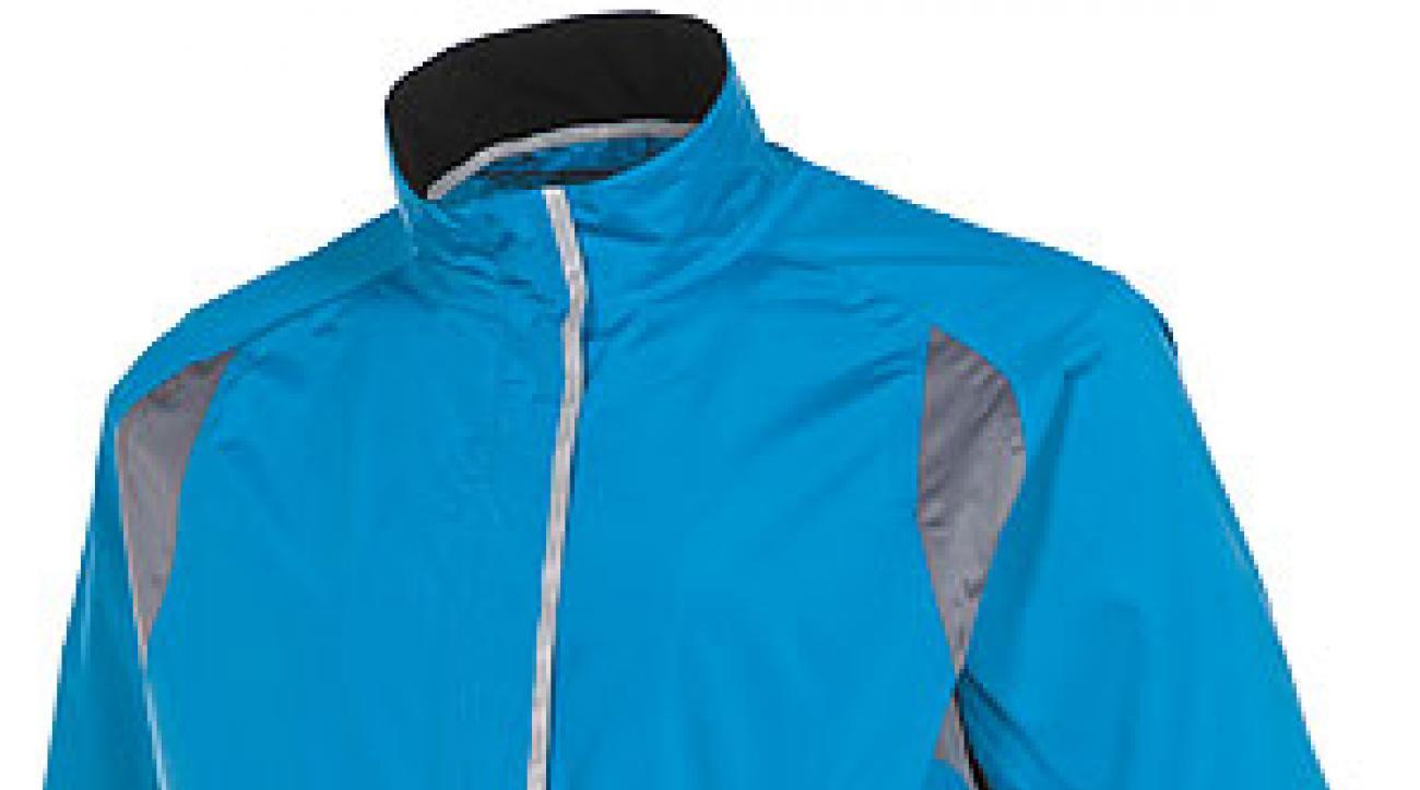 A seam-sealed rain jacket by Sunice