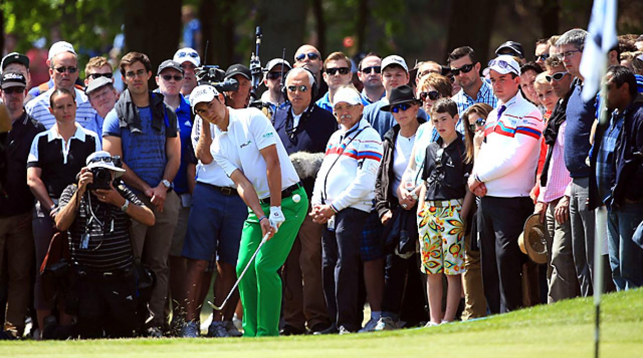 Matteo Manassero was able to get out of trouble several times before prevailing on the fourth hole of sudden death at Wentworth.