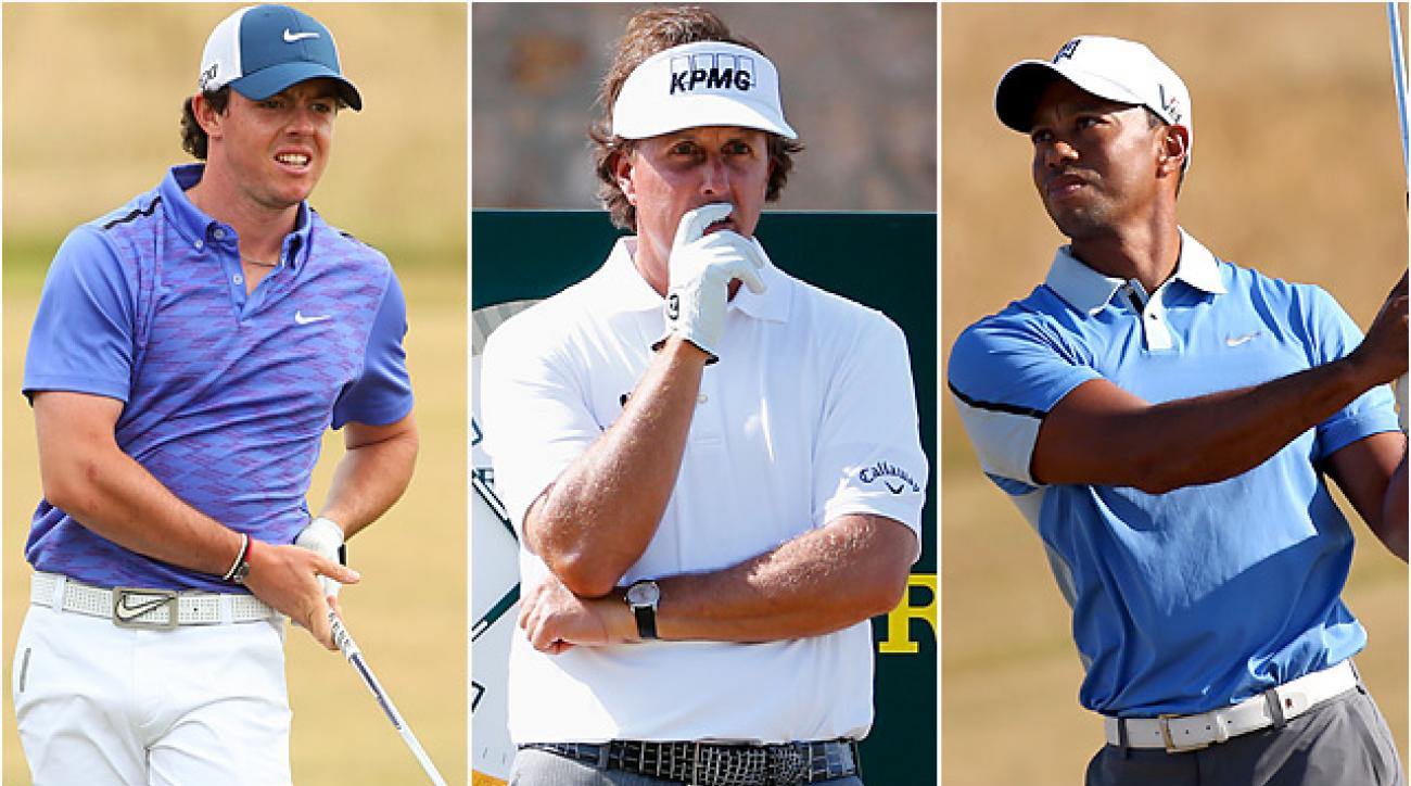 Rory McIlroy, Phil Mickelson and Tiger Woods are among the favorites, but dry course conditions could make this Open Championship winnable for everyone in the field.