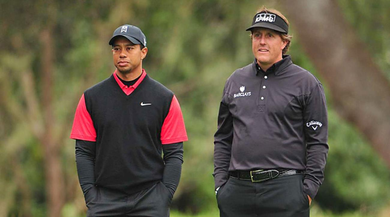 Tiger Woods and Phil Mickelson, seen here in the final round of the 2009 Masters, are No. 1 and No. 2 in Gary Van Sickle's list of 'Six Players Who Can Win the 2013 Masters.'