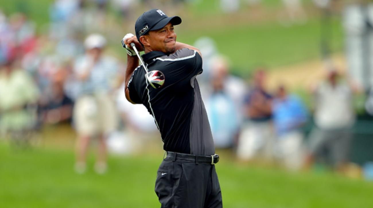 Tiger Woods was eliminated in the opening round of the Accenture Match Play.
