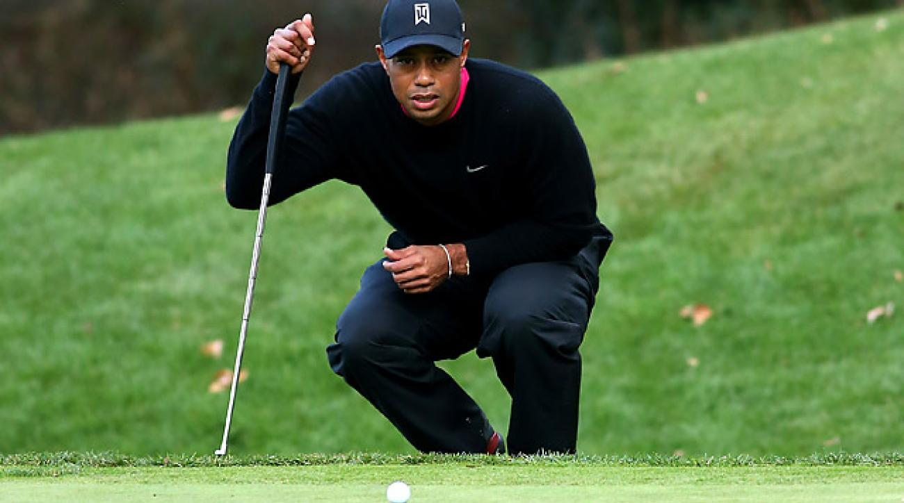 Playing only 19 tournaments that awarded world ranking points, Tiger Woods won slightly more than Henrik Stenson in 2013, who played 31 such tournaments.