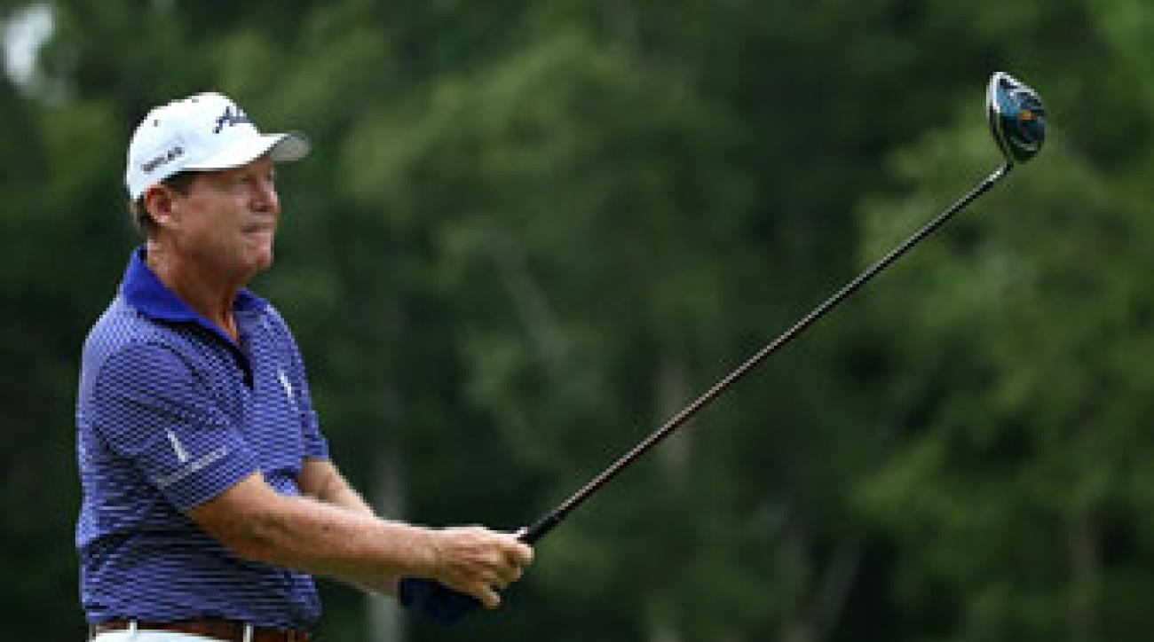 """Tom Watson may have lacked the """"air"""" to attack Valhalla's pins, but he still shot a 1-over 72."""
