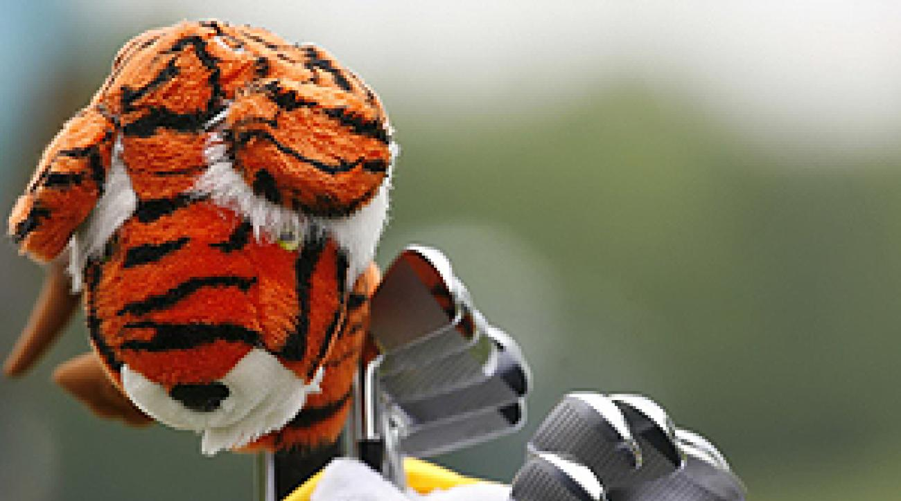 Tiger Woods' headcover, Frank, has become famous over the years.