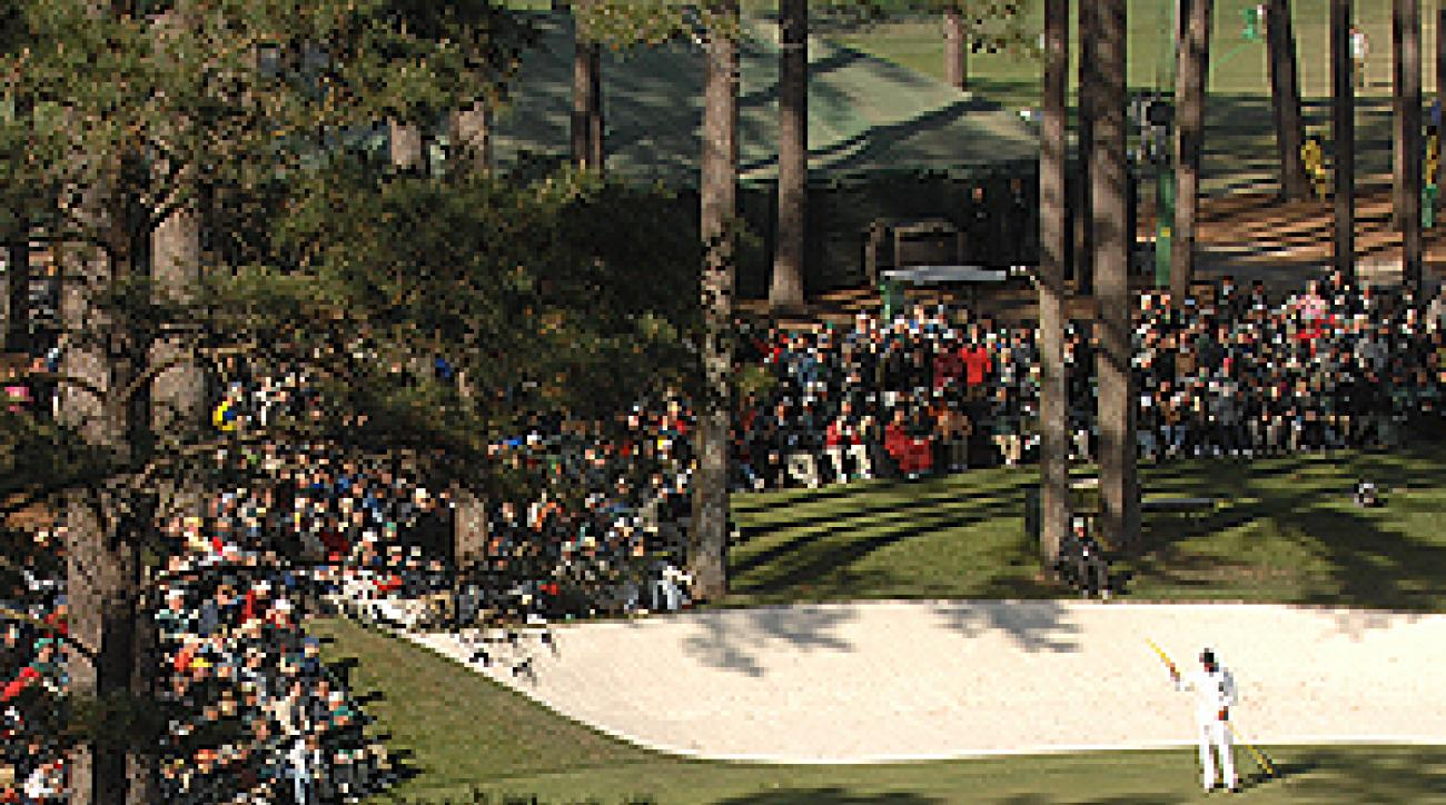 The crowds were ready to make noise all week, but a brutal course set up kept Augusta National quiet.