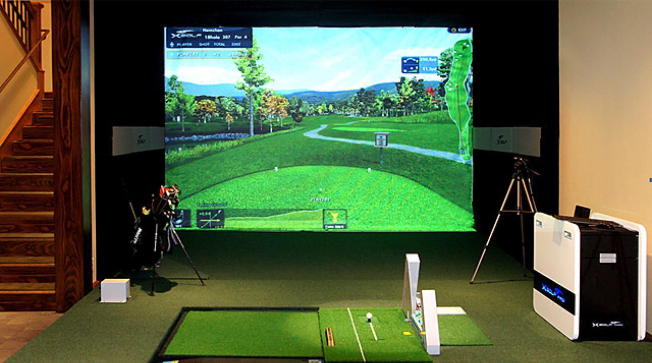 The X Golf simulator.