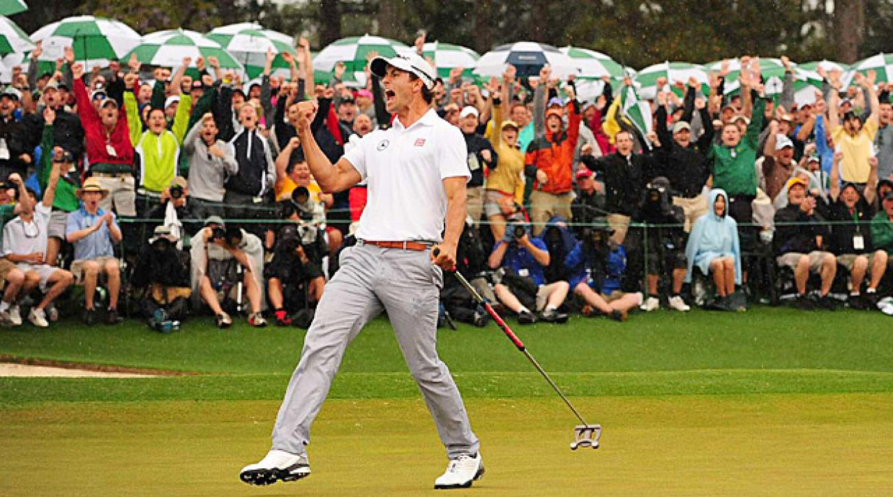 Adam Scott won his first major at the 2013 Masters.