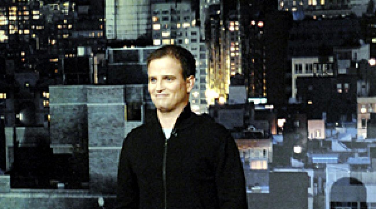 Zach Johnson was on the Late Show With David Letterman on Monday.