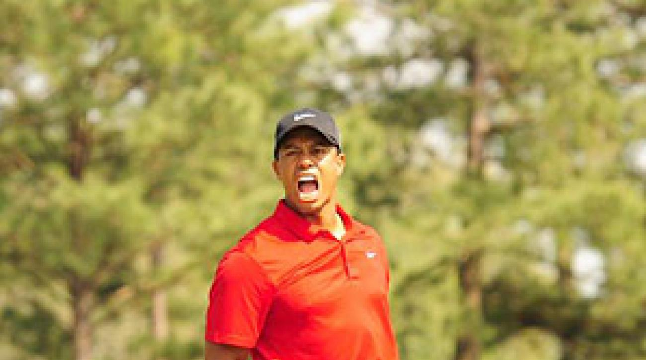 Woods showed flashes of his old self on Sunday at the Masters.