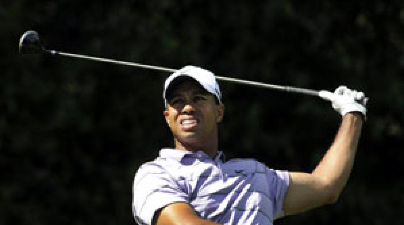 Tiger Woods's driving woes continued at the Masters.