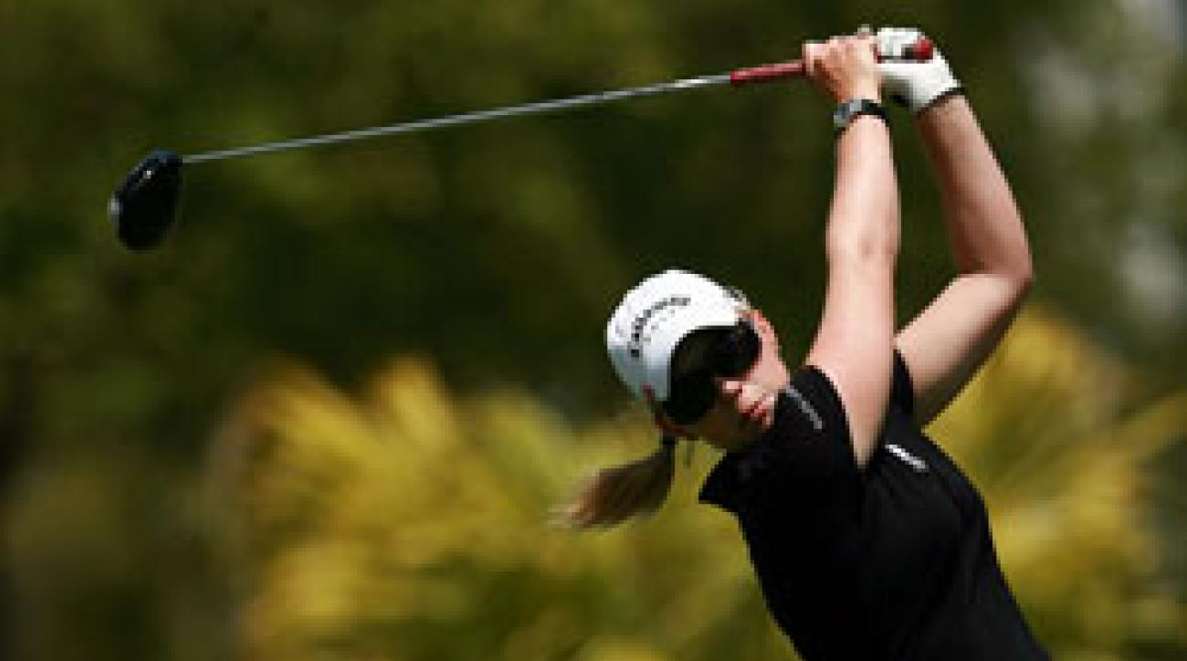 Morgan Pressel shot a 75 in the first round.