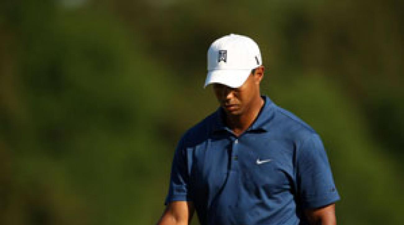 Tiger Woods missed the cut for only the sixth time in his career.
