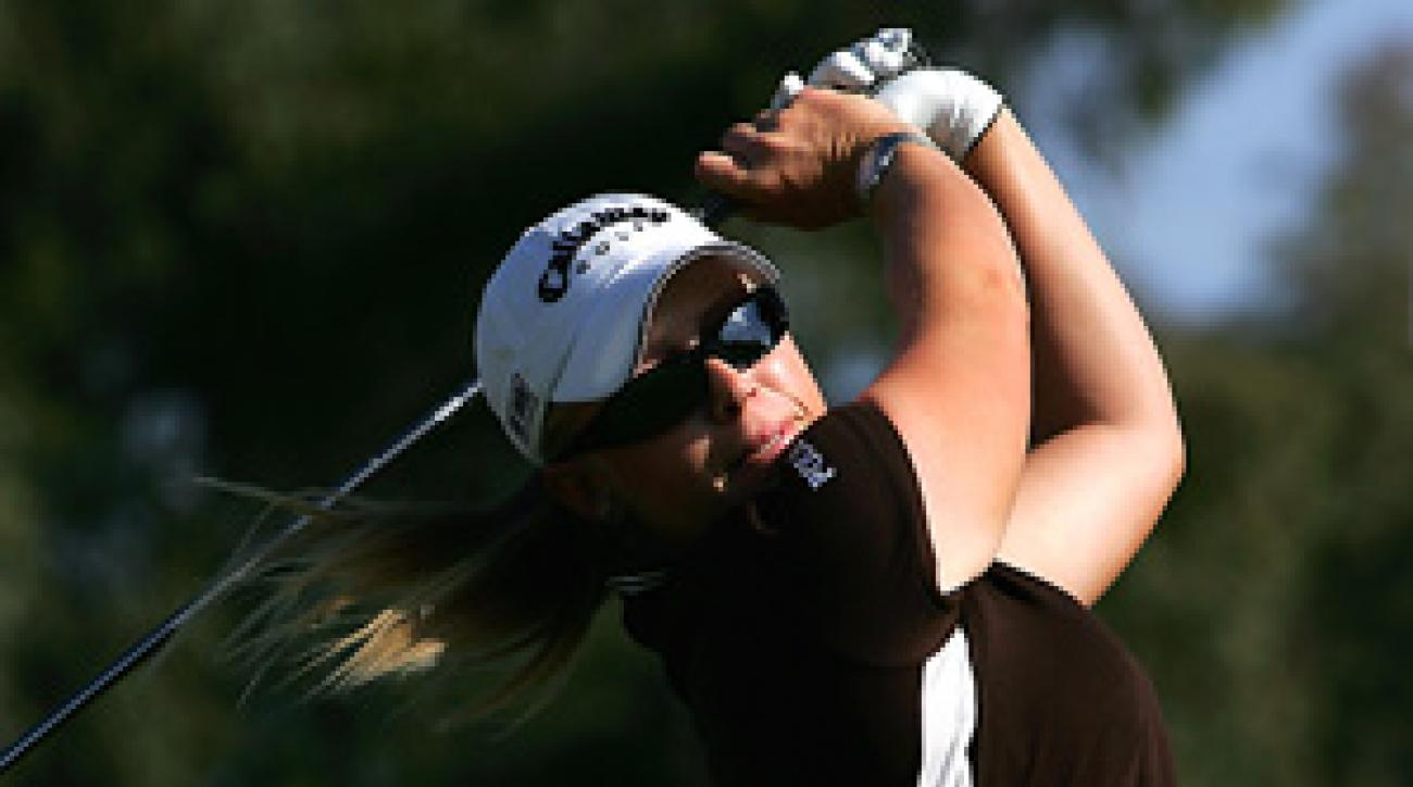 In four starts this season, Morgan Pressel has three top 10s, including her win Sunday at the Kraft Nabisco Championship.