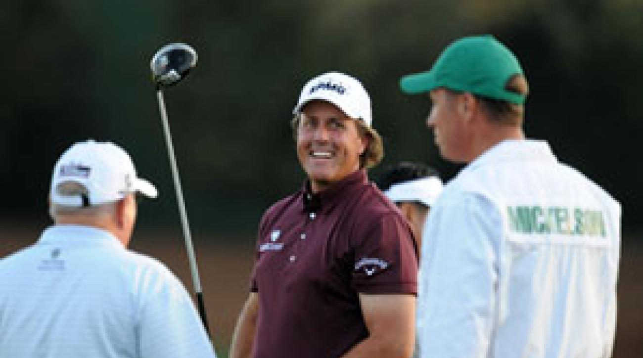 Phil Mickelson hopes to have his family at Augusta later in the week.