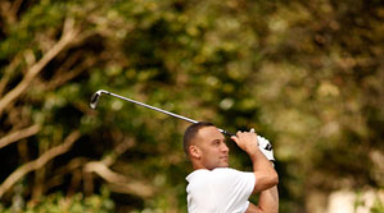Derek Jeter at his charity golf tournament in Tampa, Fla., earlier this year.