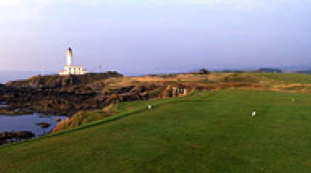 The par-4 ninth at the Ailsa course at Turnberry.
