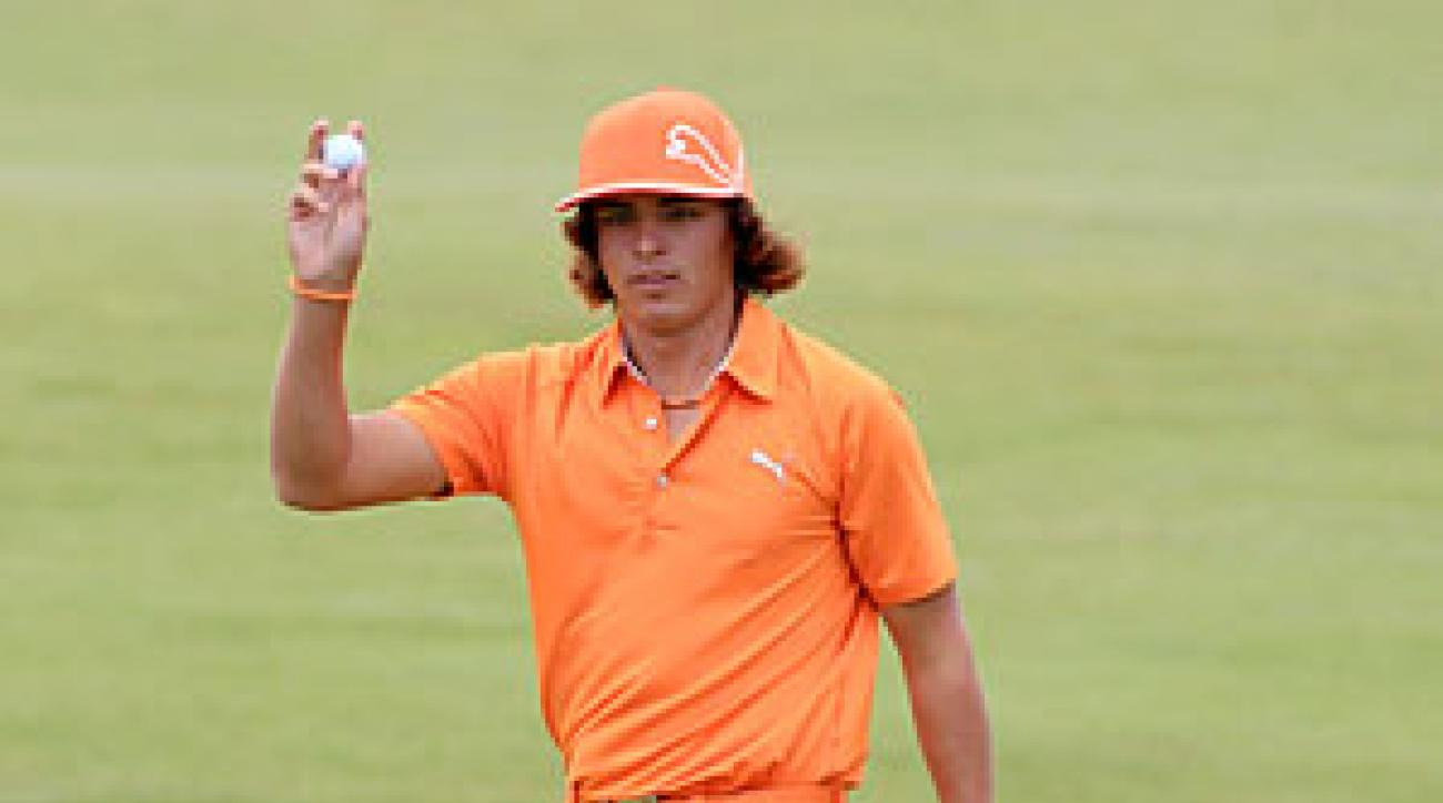 Rickie Fowler (who still wears his school colors) played for two years at Oklahoma State before turning pro in 2009.