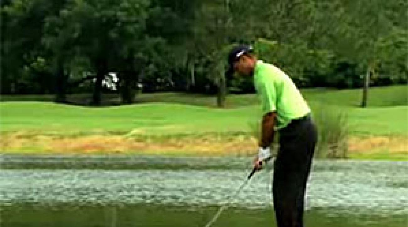A scene from EA Sports' YouTube ad for Tiger Woods PGA Tour '09. Scroll down to watch the video.