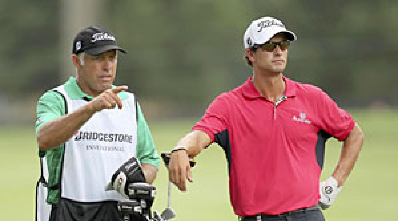Adam Scott tied his career-low round on Thursday.