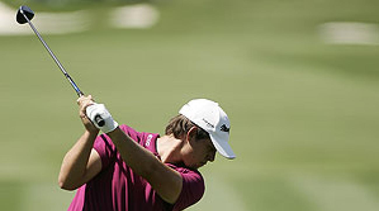 Aaron Baddeley finished tied for sixth at 5-under, five shots behind Tiger Woods at the WGC-CA Championship.