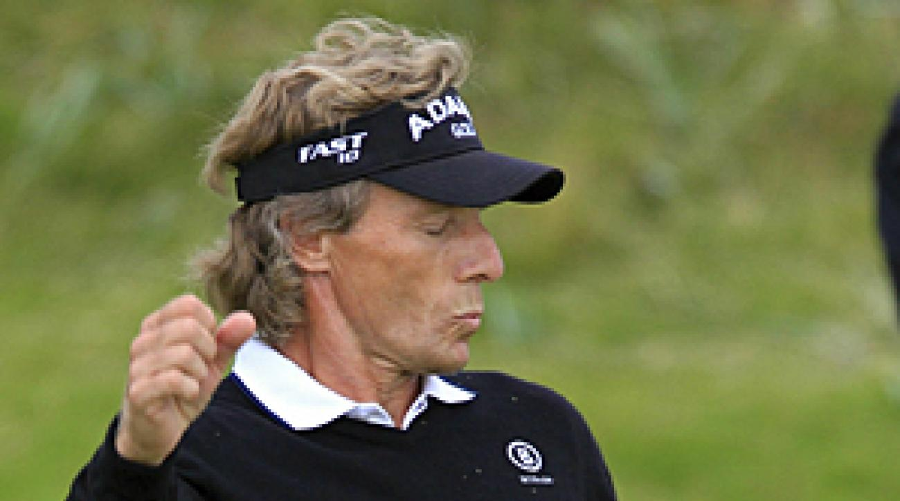 """""""I am aware that a three-shot lead is nothing if very little around here,"""" Langer said of Carnoustie."""