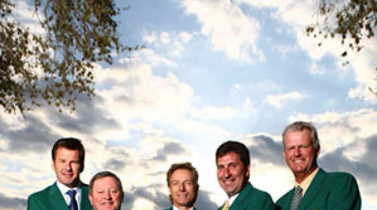 Nick Faldo, 52; Ian Woosnam, 51; Bernard Langer, 52; Jose Maria Olazabal, 43; Sandy Lyle, 51, in Augusta, Ga.