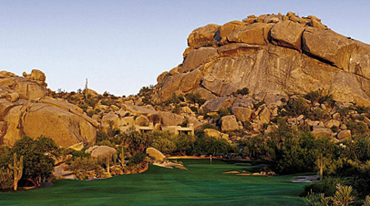 The Boulders has a 9-hole course that's perfect couples looking for a quick round.