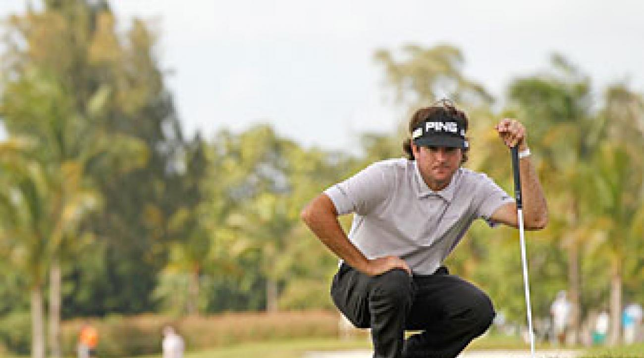 Bubba Watson's Friday 62 was one shot off the course record.
