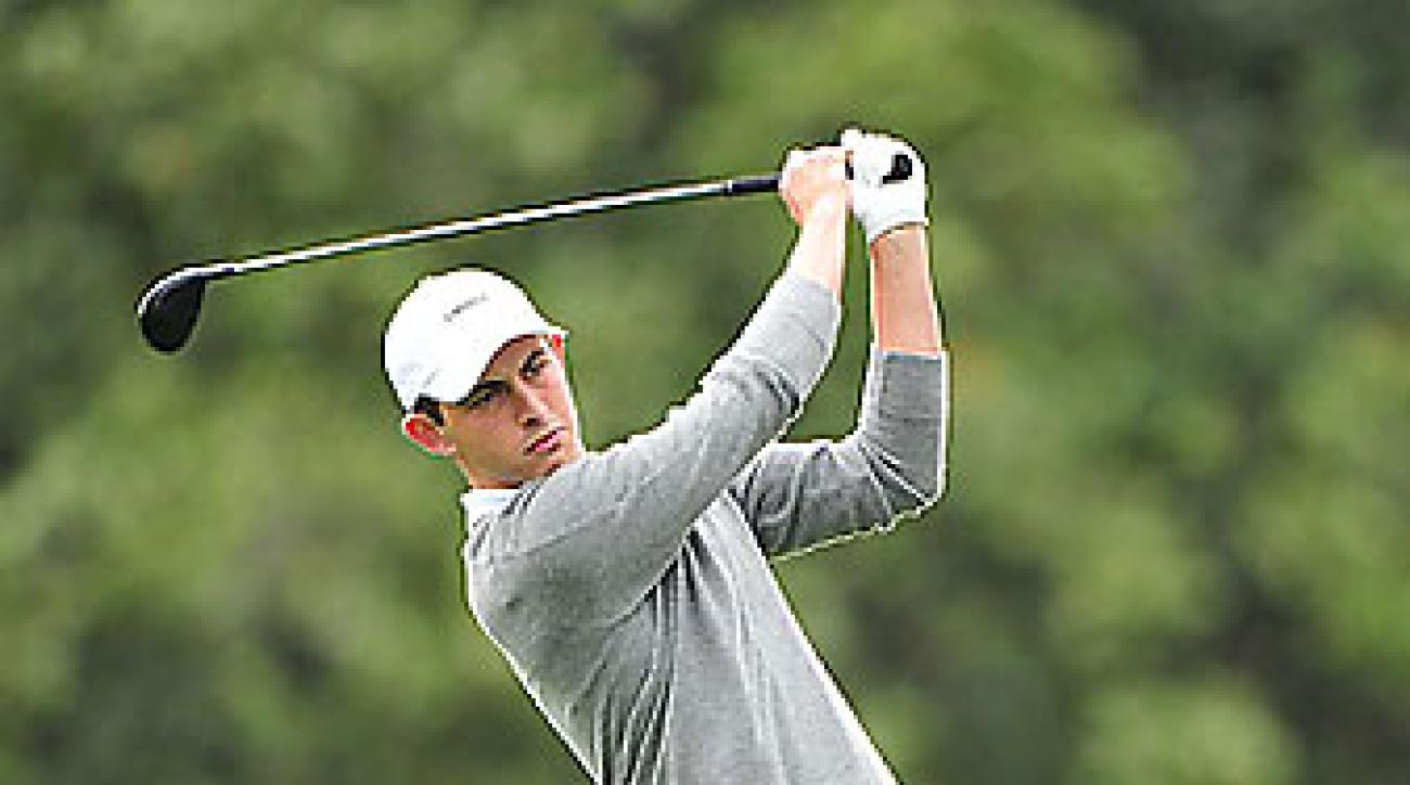 Cantlay during the 2012 Masters at Augusta.