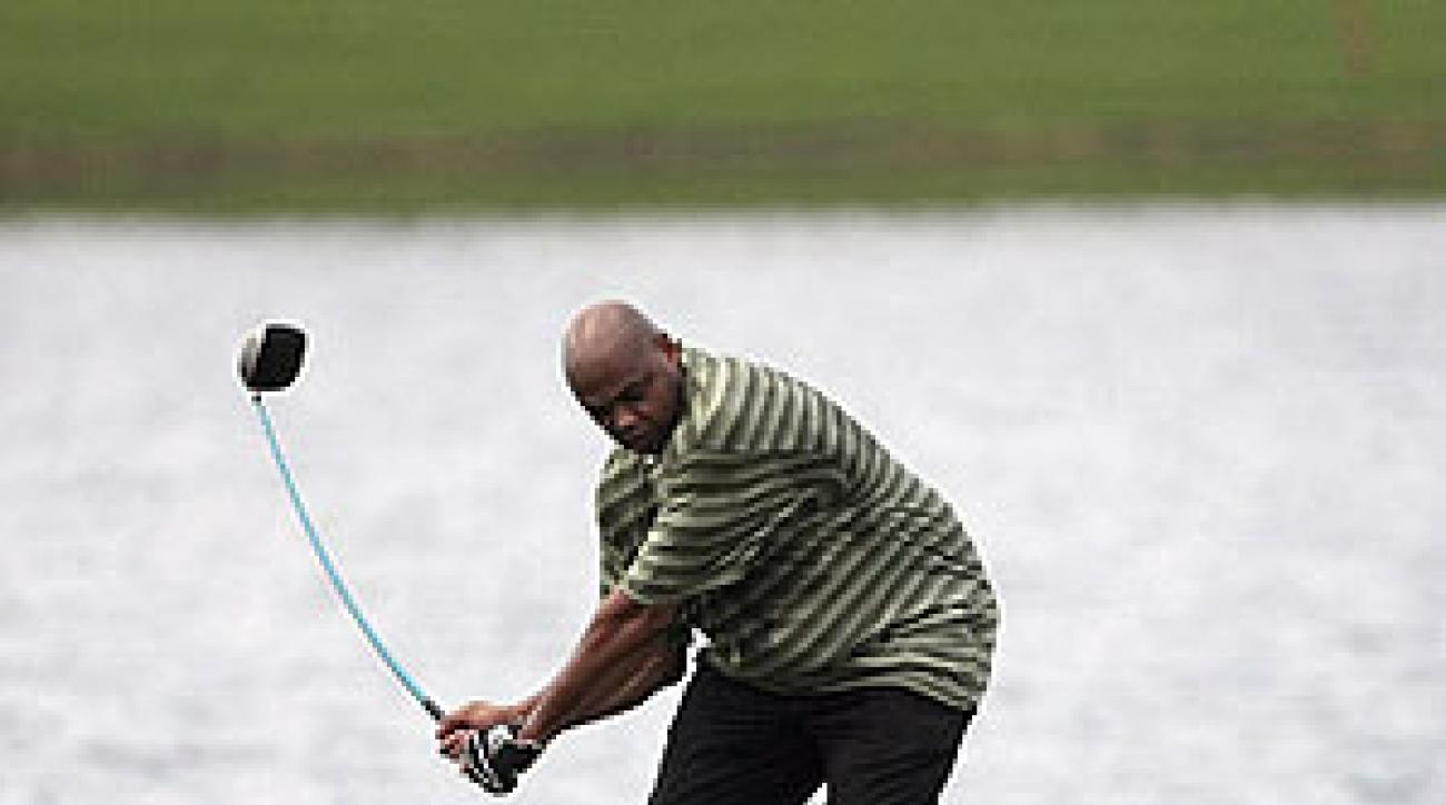 Charles Barkley has a unique swing.