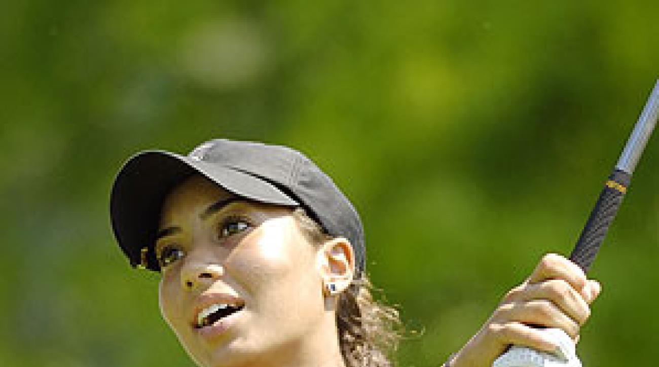 Cheyenne Woods shot 75 in her LPGA debut.