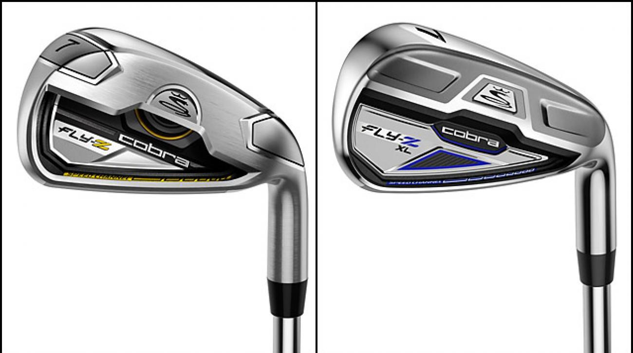 From left: Cobra Fly-Z Irons, Cobra Fly-Z XL Irons.