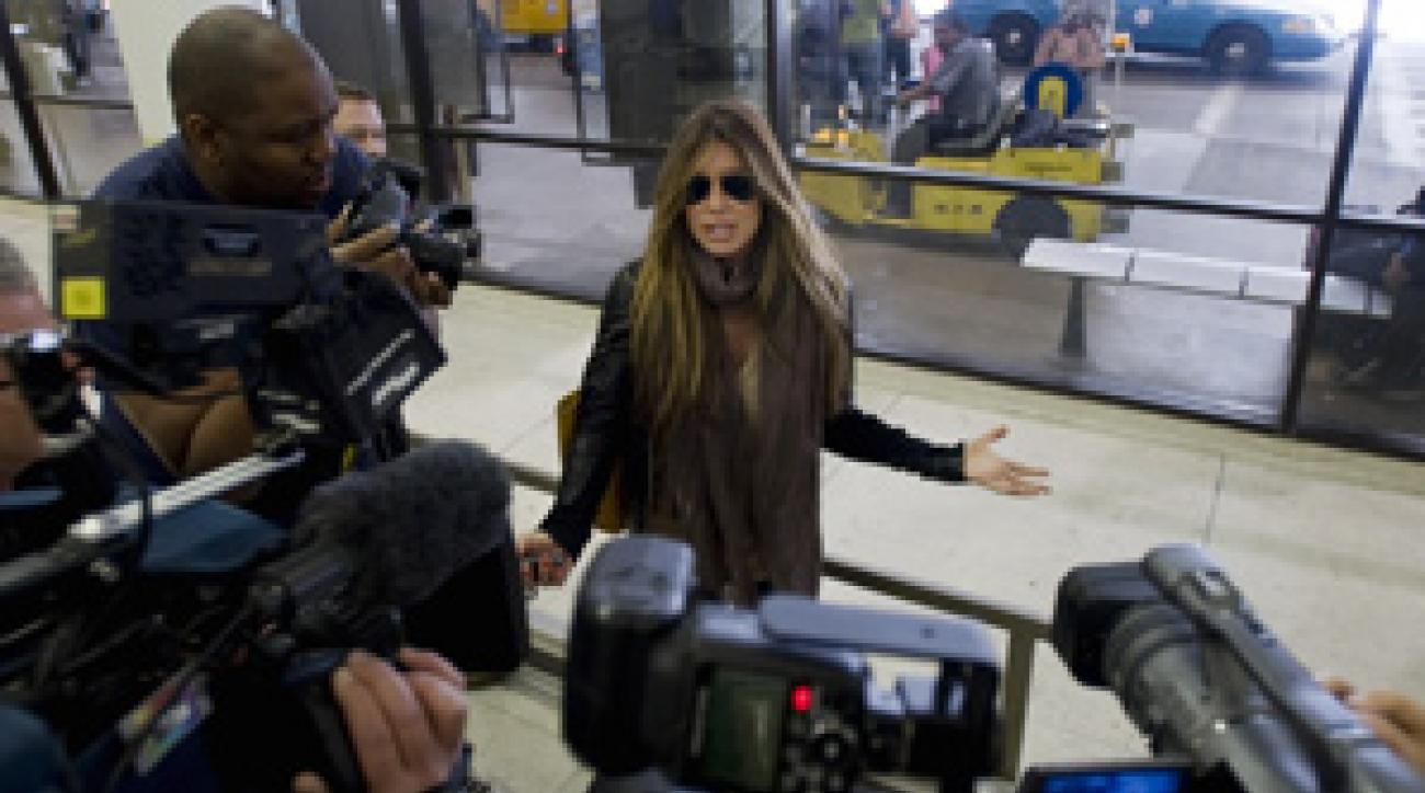 Rachel Uchitel has been followed by the press since The National Enquirer published a story last week alleging she had an affair with Tiger Woods.