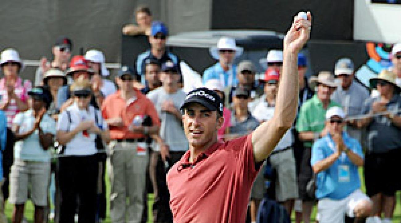 Ogilvy captured the Australian Open trophy for his second professional win in his home country.