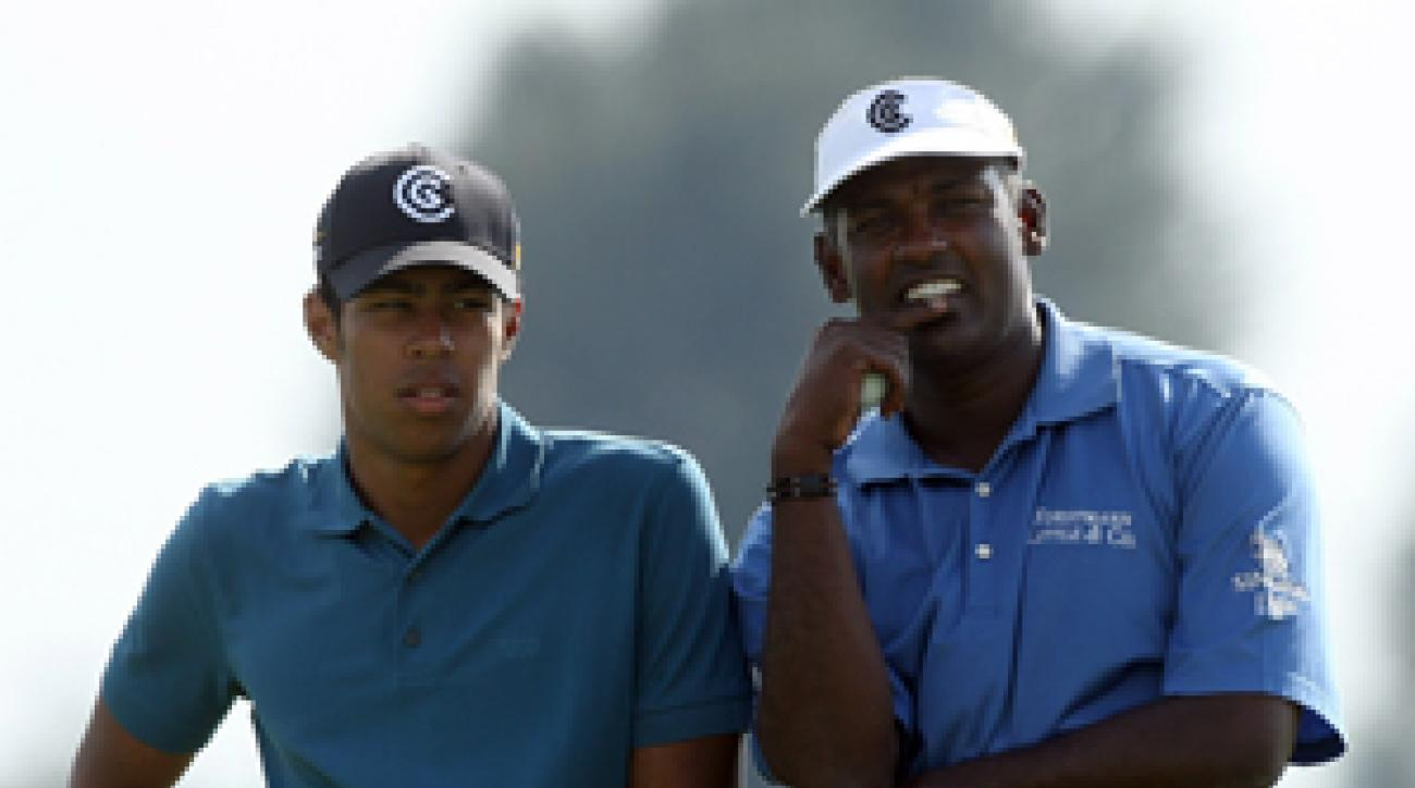 Vijay Singh teamed up with his son Qass at the 2007 Father/Son Challenge.