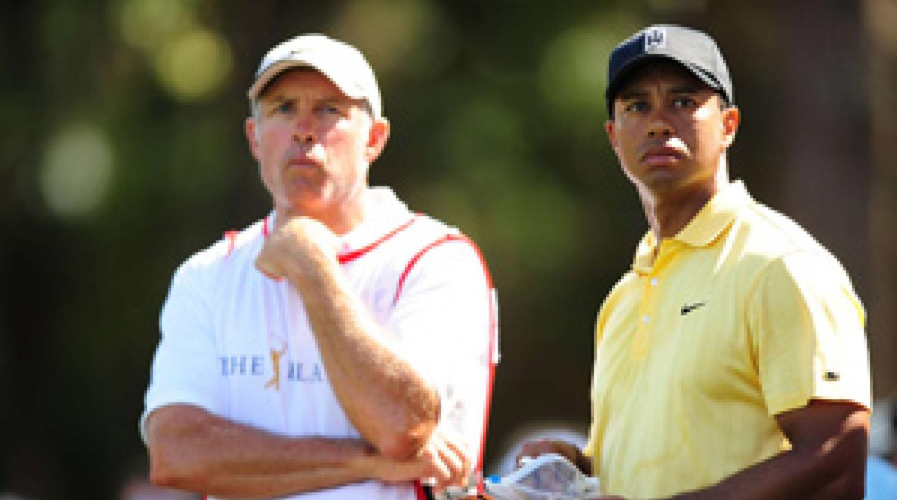 Steve Williams and his boss, Tiger Woods, will fly separately to the Ryder Cup.