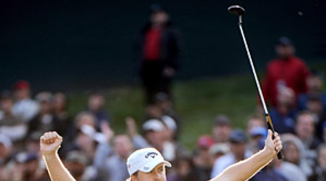McDowell made clutch putts all day Sunday on his way to winning the Chevron World Challenge.