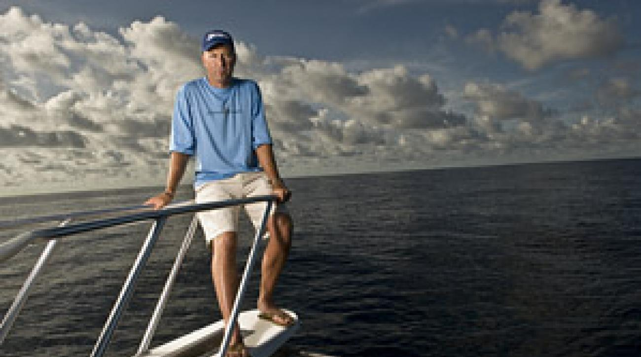 Allenby, on his 61-foot fishing boat, says he has learned to let go of his negativity.