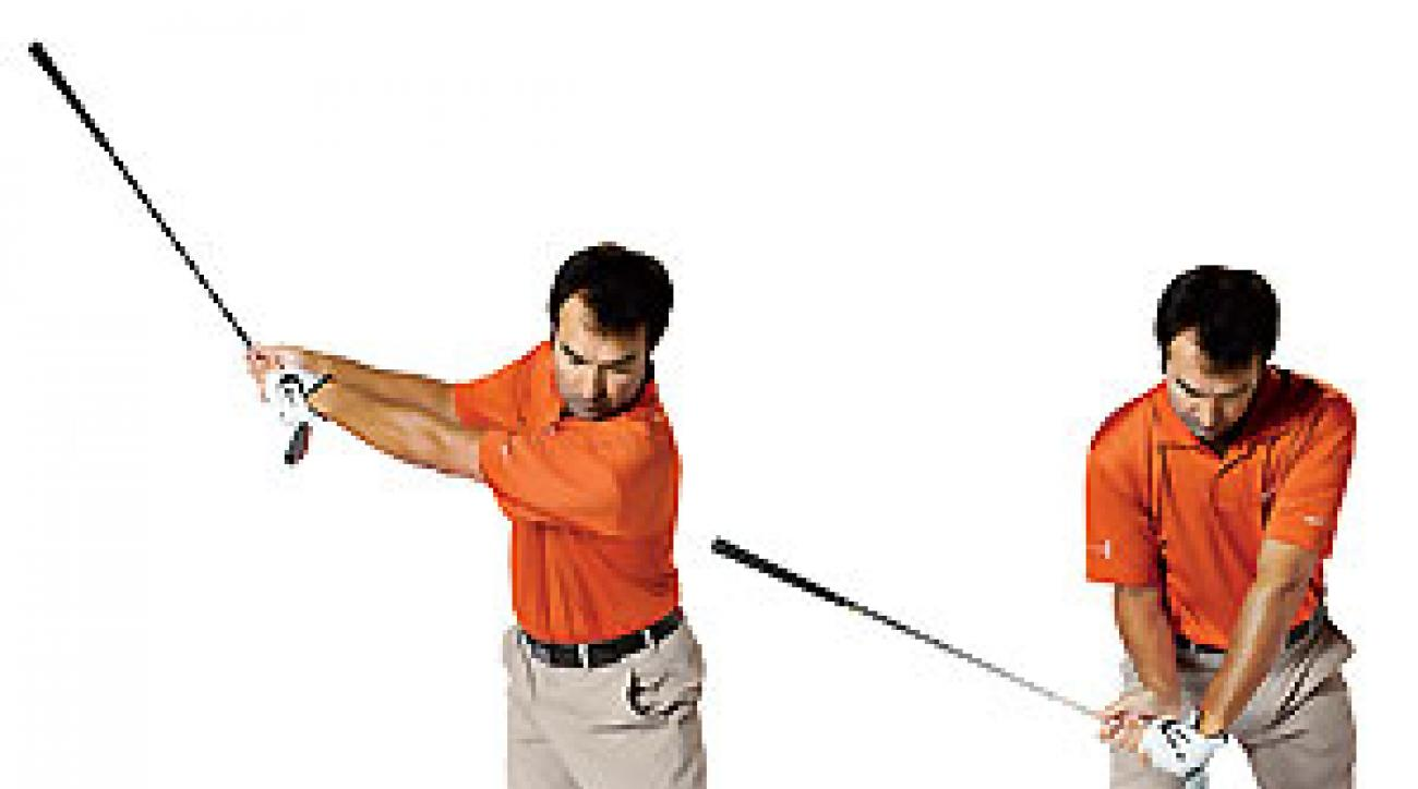 Make the widest backswing possible and you'll get instant clubhead lag.