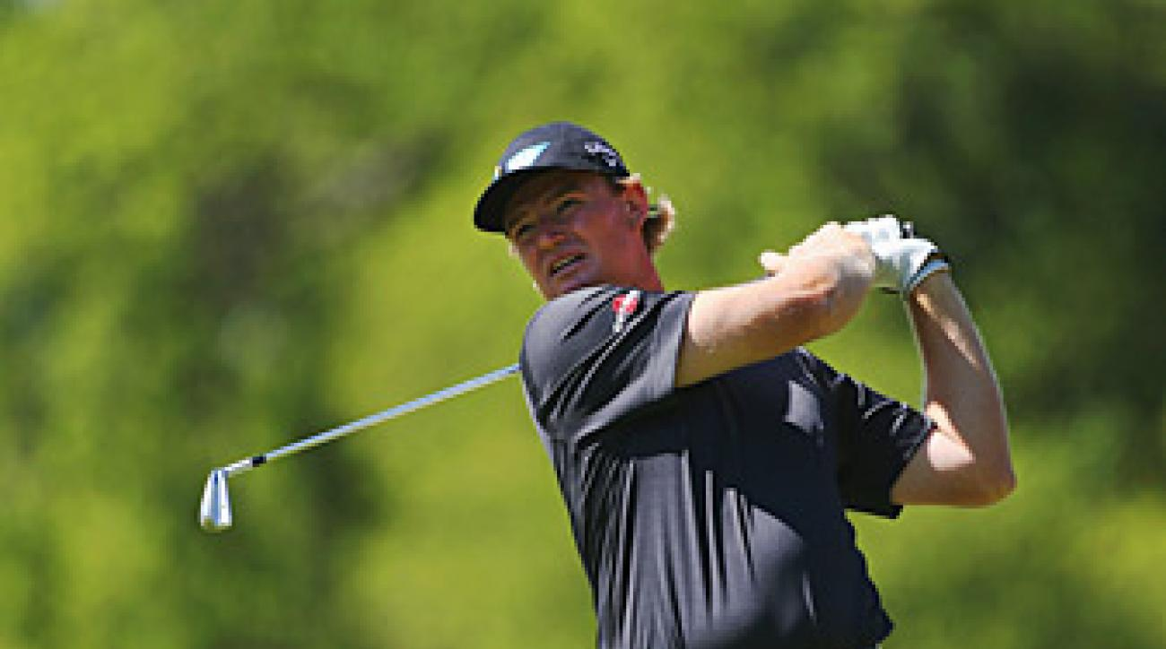 Ernie Els shot a two-under 70 Saturday.