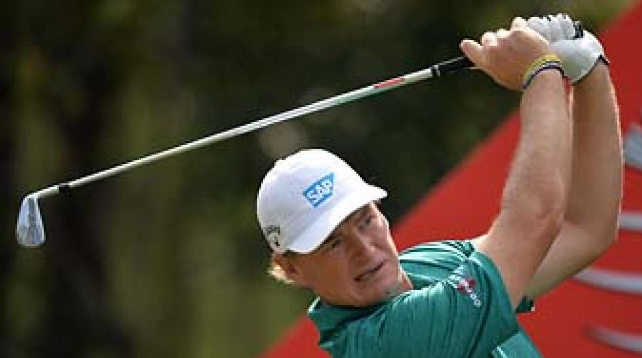 Ernie Els at the HSBC Champions event in Shanghai in November. Els has won majors with three different equipment companies.