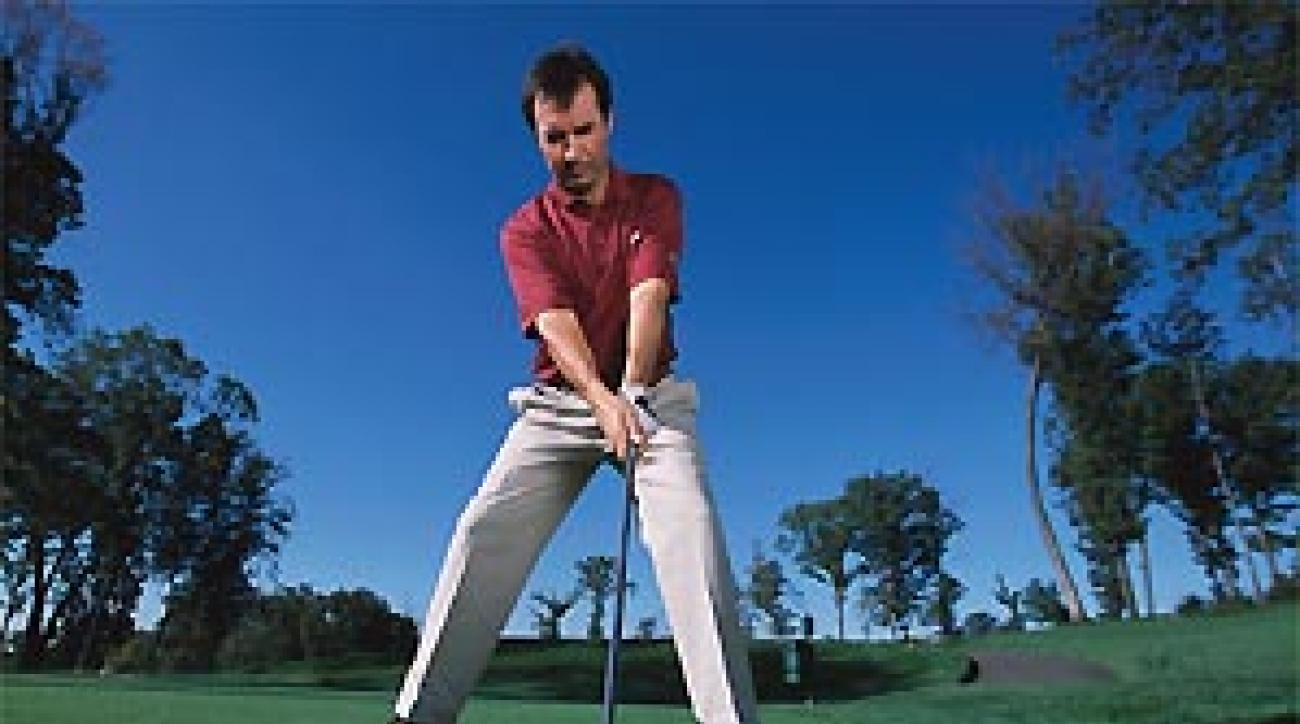 A wider stance lowers your center of gravity.