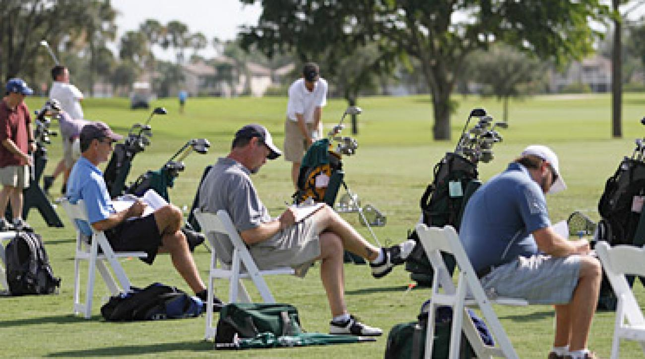 ClubTest 2011: Testers get down to business after hitting some sticks.