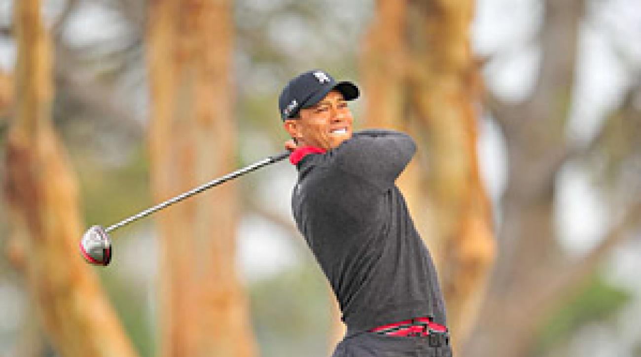PGA Tour TV ratings were up in the first month of 2011 despite the fact that Tiger Woods played only one tournament and did not contend.