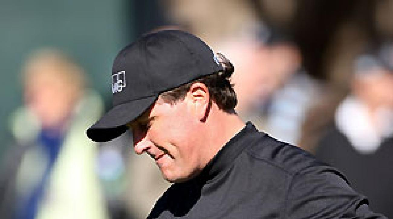Phil Mickelson finished at four-over par.
