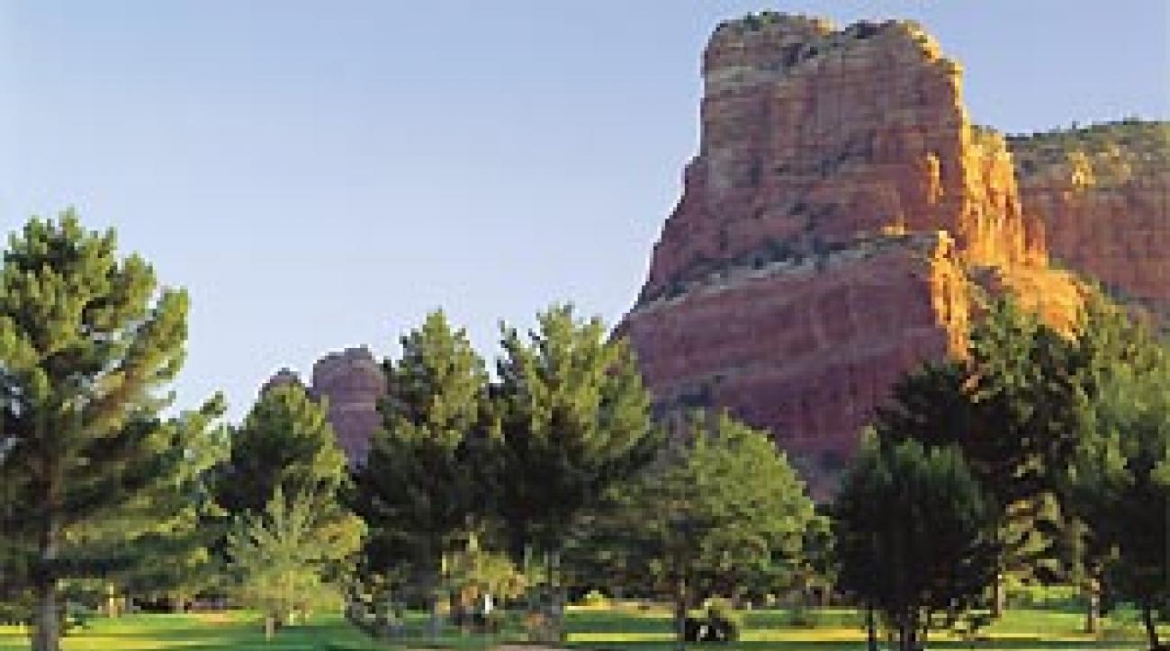 Casle Rock dominates the views at Sedona's Oakcreek.